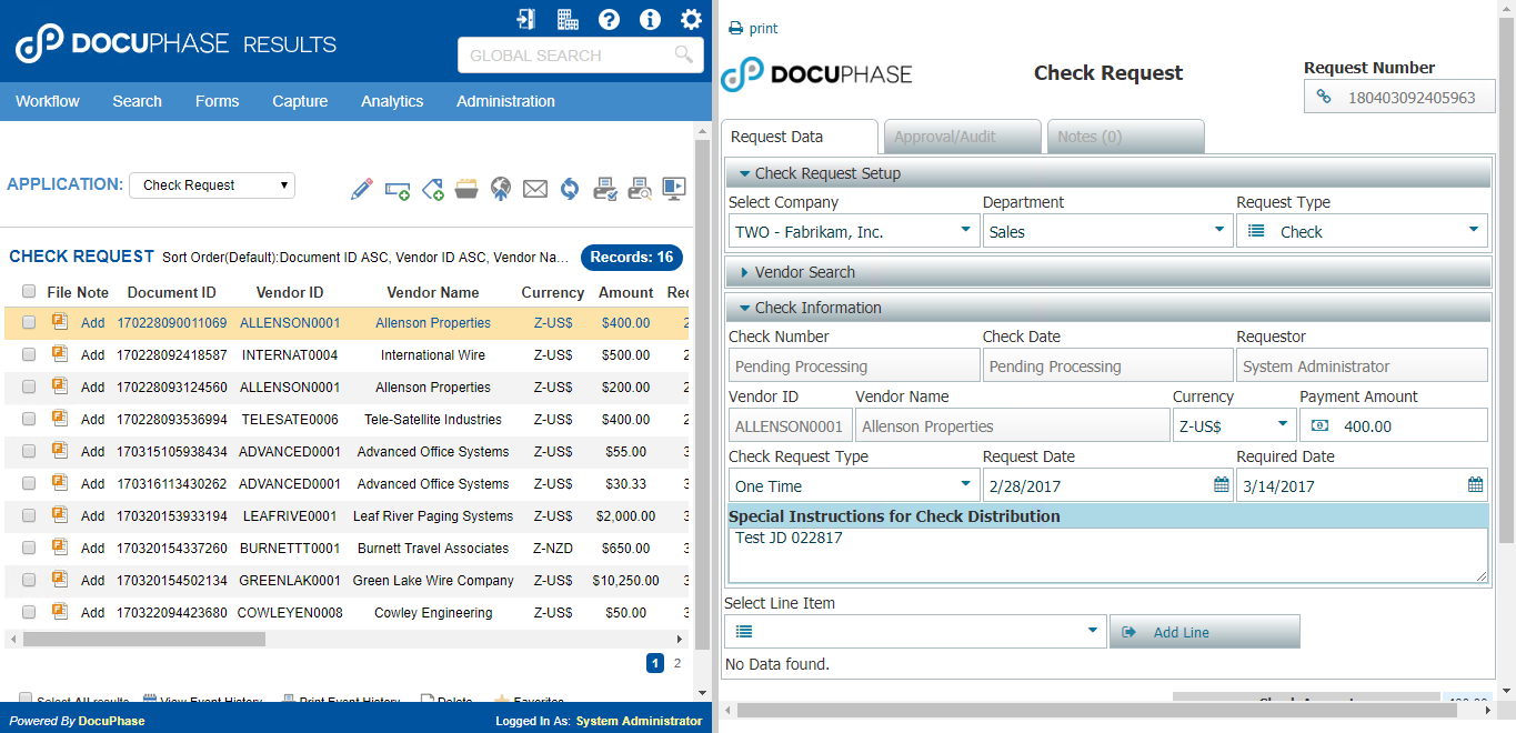DocuPhase Software - Form