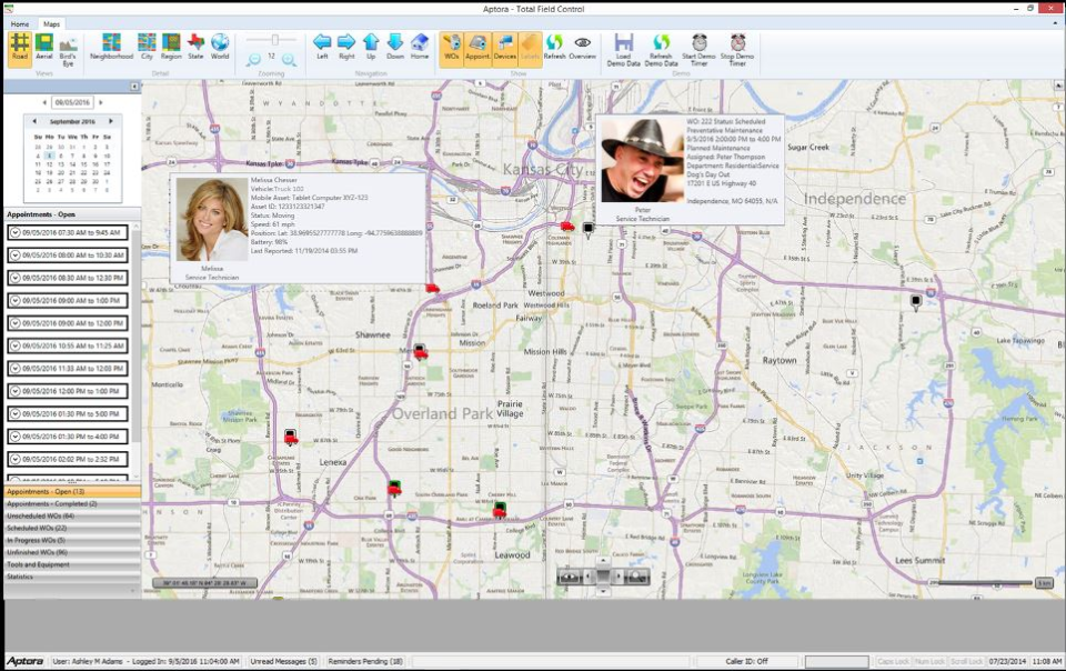 Total Office Manager map view