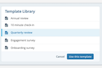 7Geese screenshot: Launch engagement and feedback surveys using a ready-made template