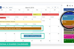 Second CRM screenshot: Visibility to each others tasks through the shared calendar to begin assigning tasks. With responsibilities clearly defined, team members can view their own task and team task separately.