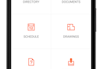 Procore screenshot: Access documents, directories, schedules, and more
