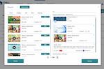 Capture d'écran pour DWALL.online : DWALL.online media playlist screenshot