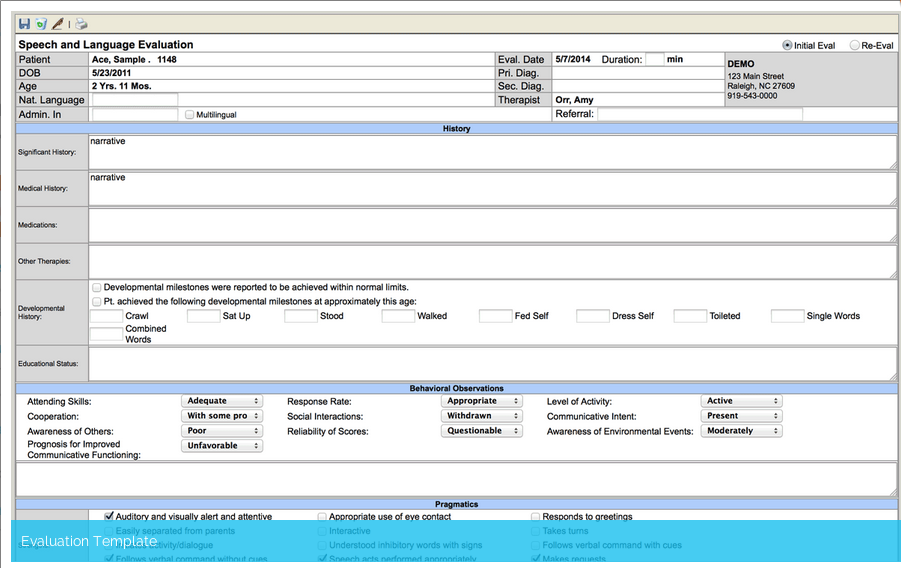 ClinicSource Software - Evaluation template