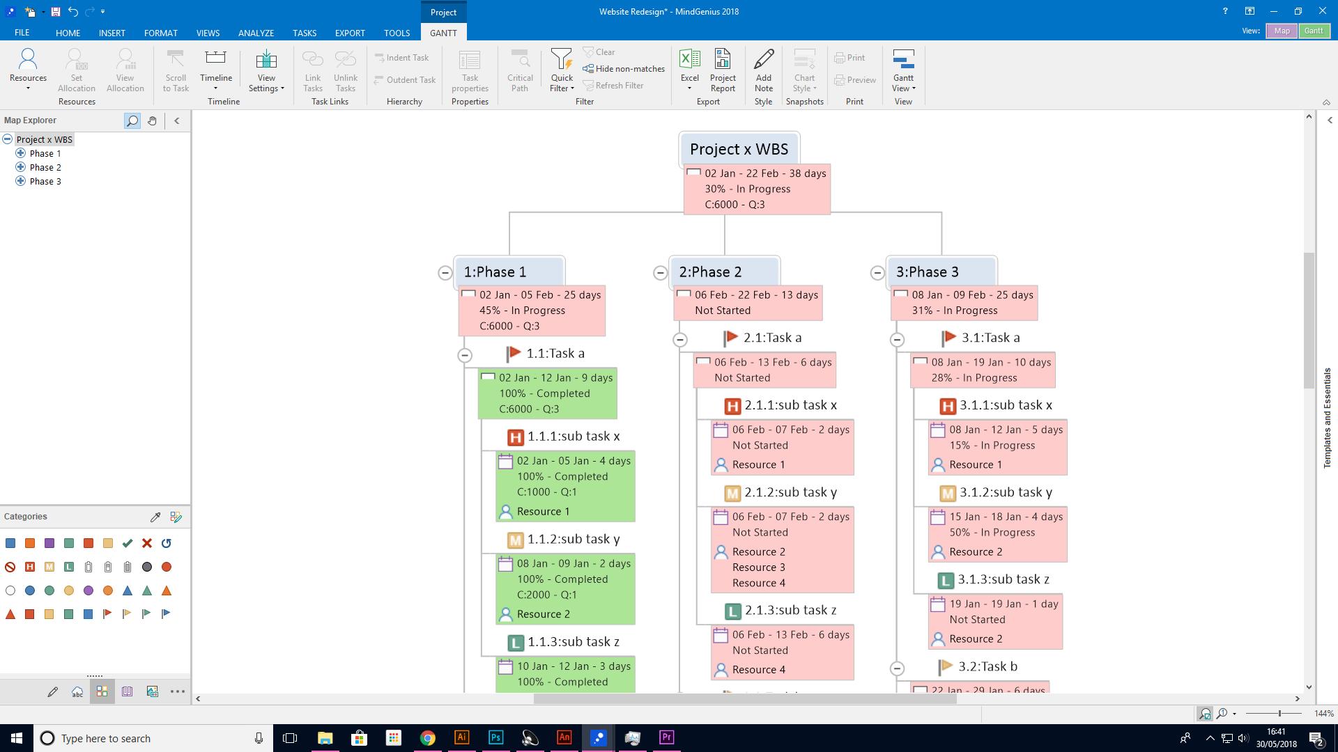 MindGenius Software - Map explorer