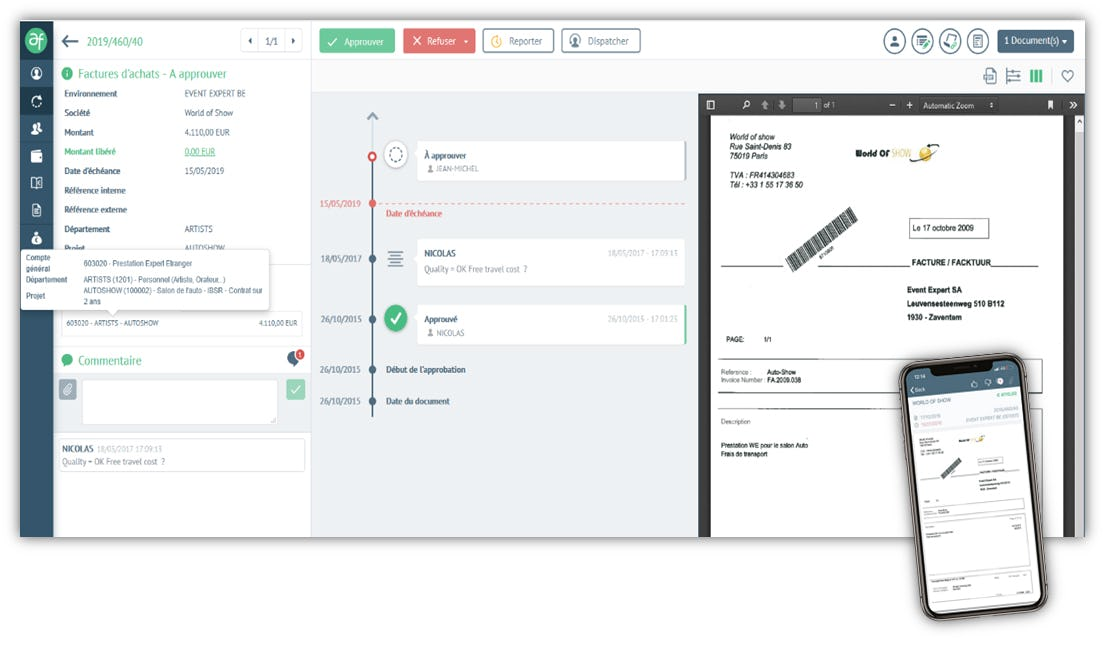 Adfinity Software - Invoice approval