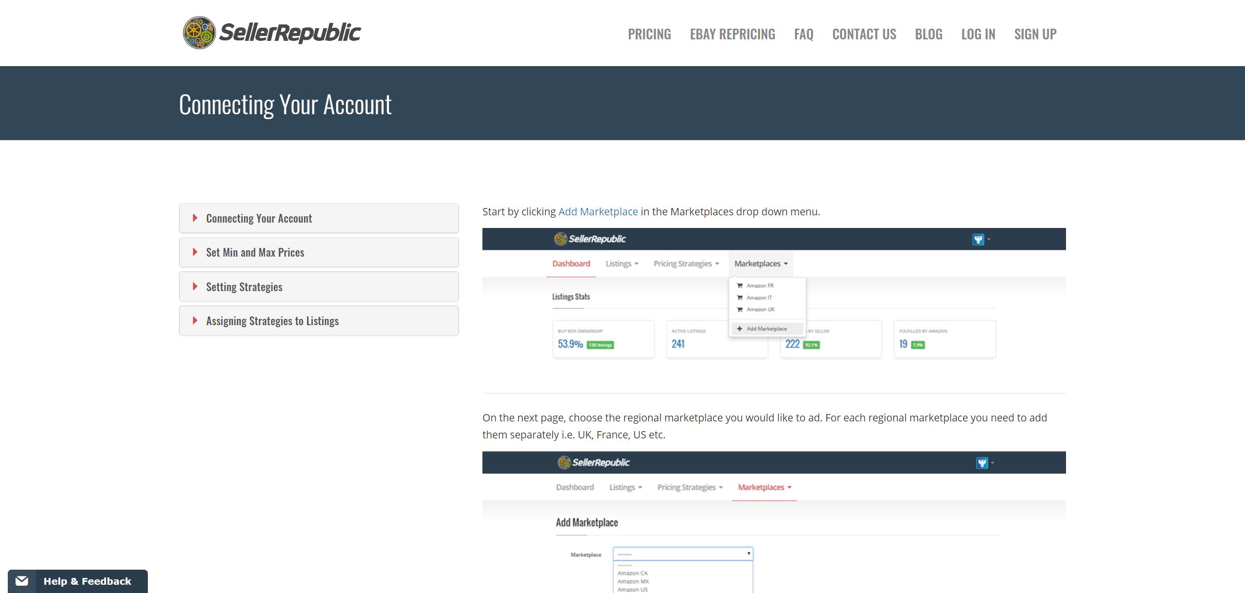 SellerRepublic add marketplaces