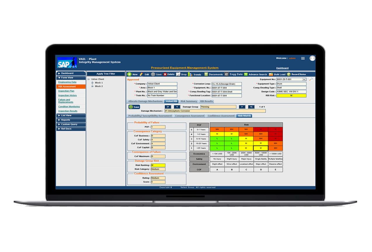 VAIL-PLANT RBI assessment