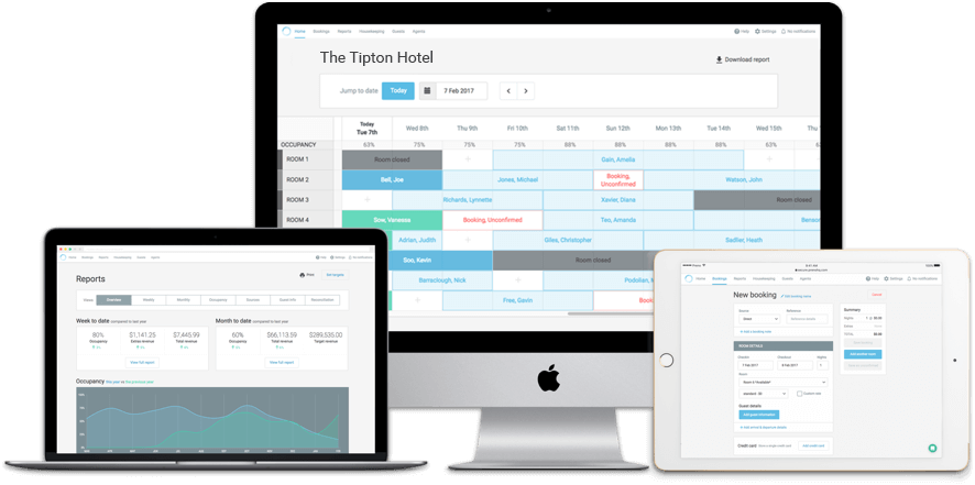 Preno's intuitive workflow allows users to create a new booking, capture guest requests and other booking information efficiently