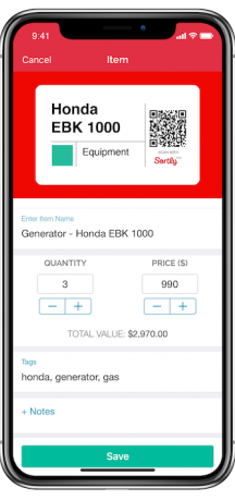 Sortly Software - Sortly Pro mobile inventory tracking
