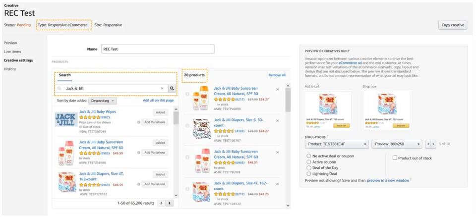 Amazon DSP REC test