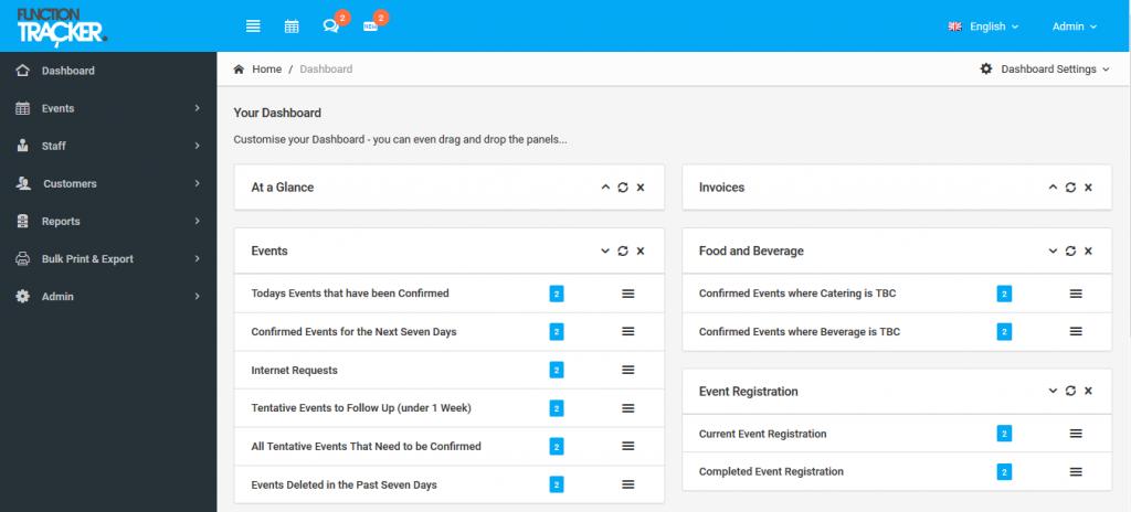 Function Tracker dashboard screenshot