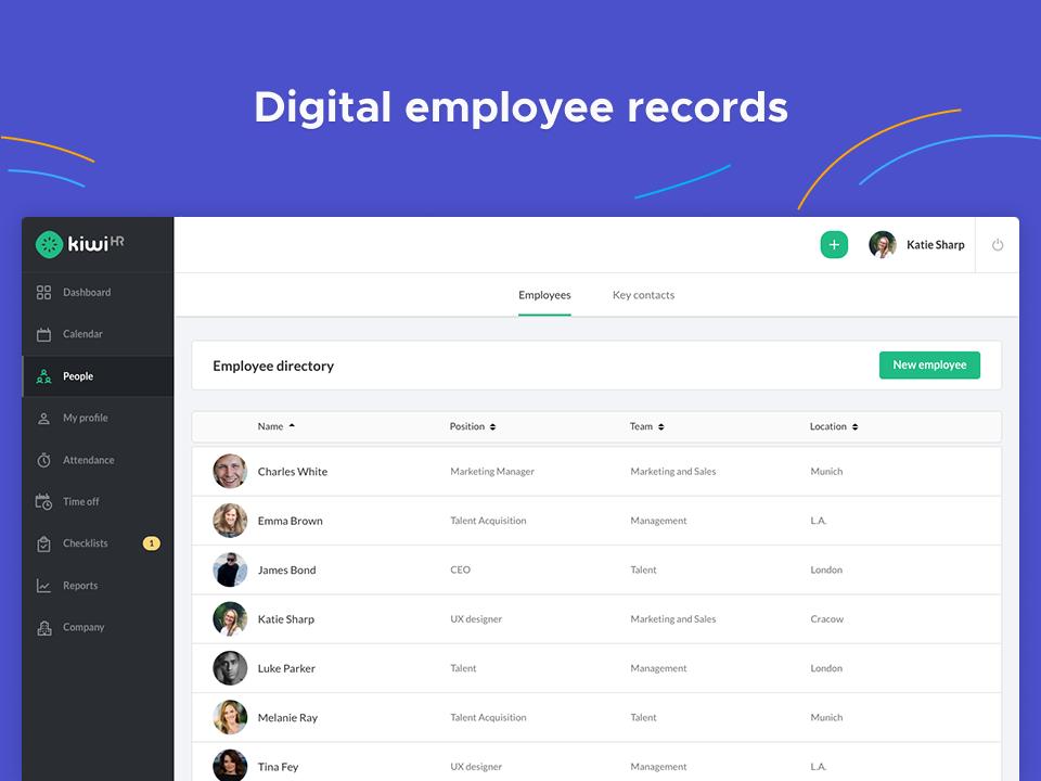digital employee records