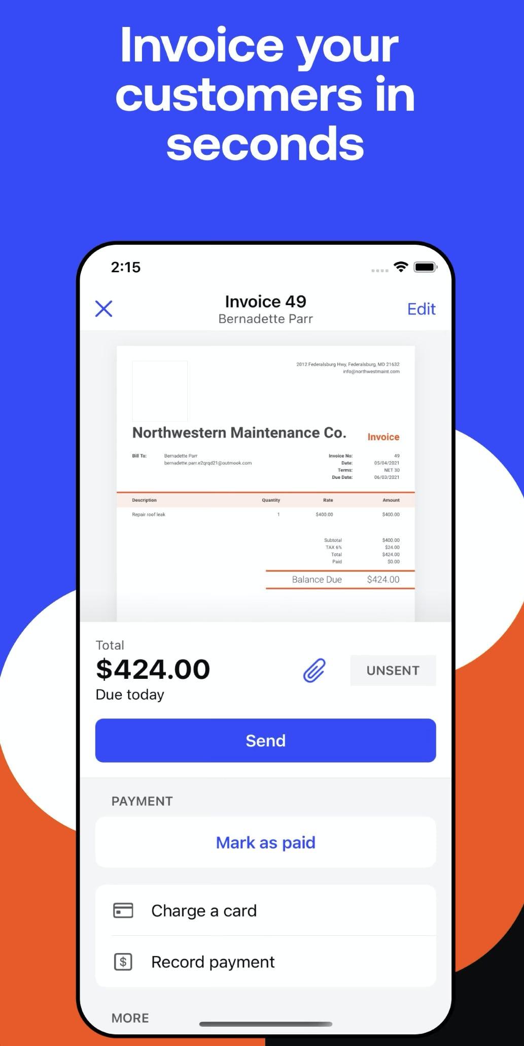 Invoice2go Software - 1