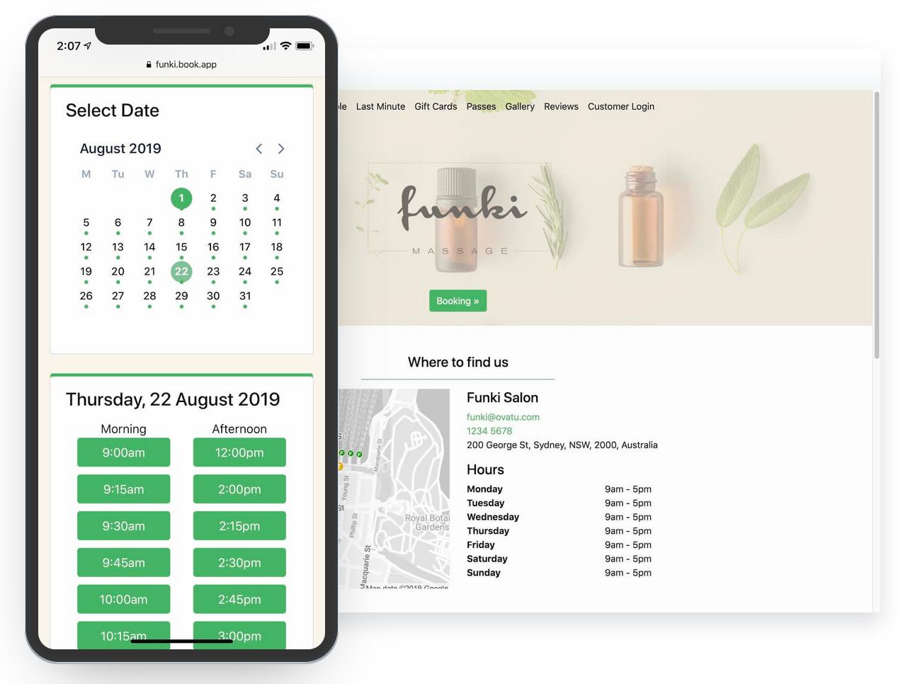 Ovatu Software - Powerful Online Booking - Take Bookings On Autopilot