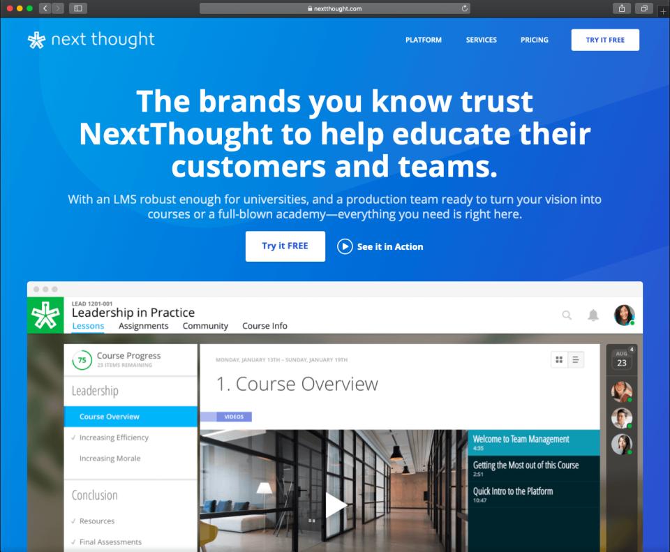 NextThought Software - LMS