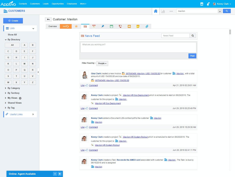 Apptivo Software - Apptivo customer news feed