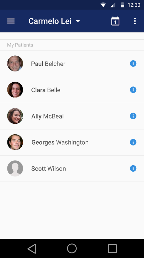 Save all contacts in a database accessible via mobile device
