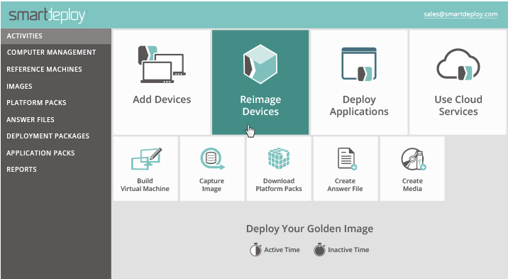 SmartDeploy golden image deployment
