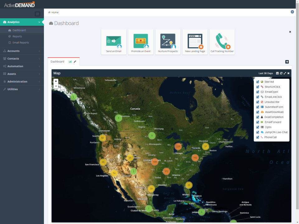 ActiveDEMAND Software - Geo Reporting