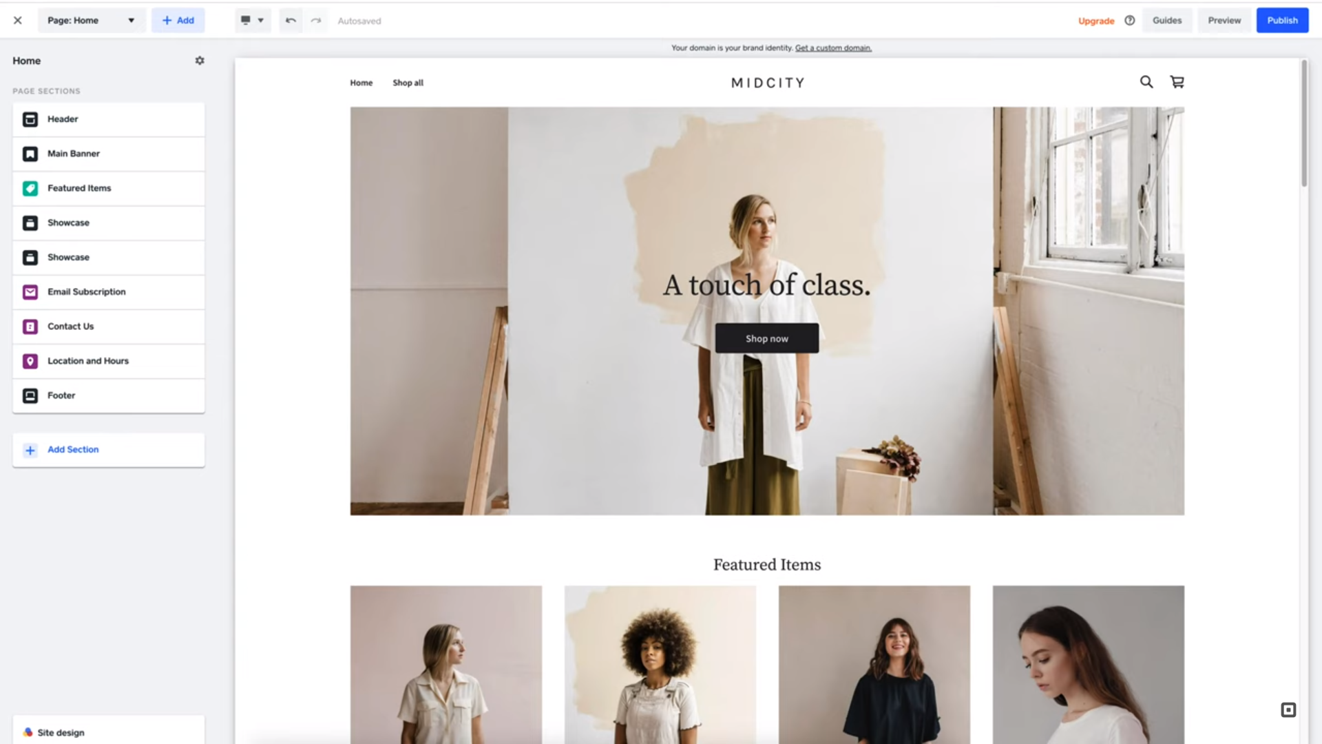 Square Online add products