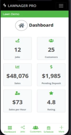 Lawnager dashboard