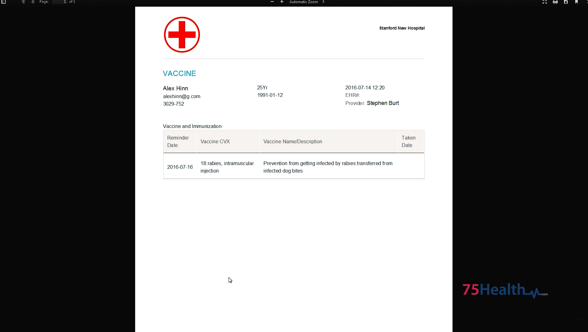 75health Software - Patient records