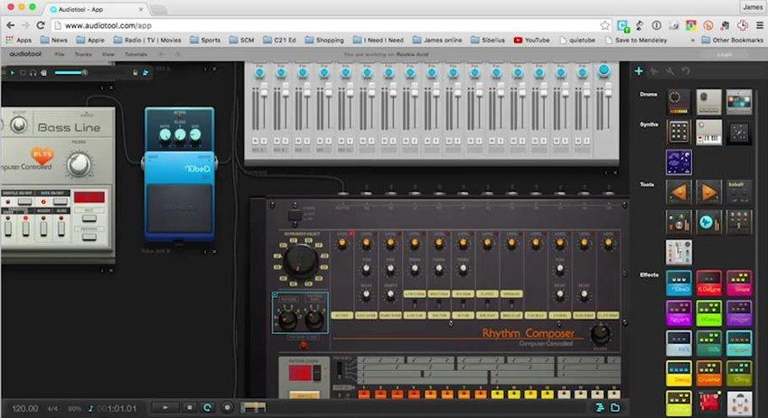 Audiotool music editor