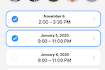 Fantastical screenshot: Fantastical meeting scheduling