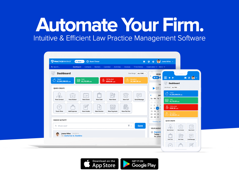 PracticePanther Legal Software Software - 1
