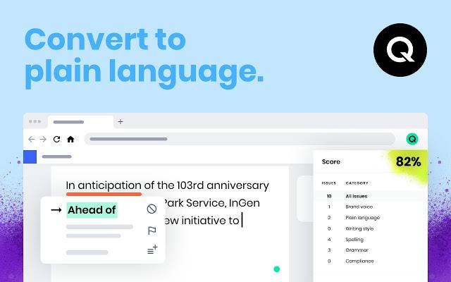 Qordoba screenshot: Convert jargon into plain language   Qordoba