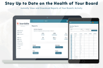 Boardable screenshot: Keep your board, staff, and other stakeholders informed on your nonprofit's performance and accomplishments with the Boardable Reports feature. Quickly view and download a variety of reports to gain insight into your board's activities.