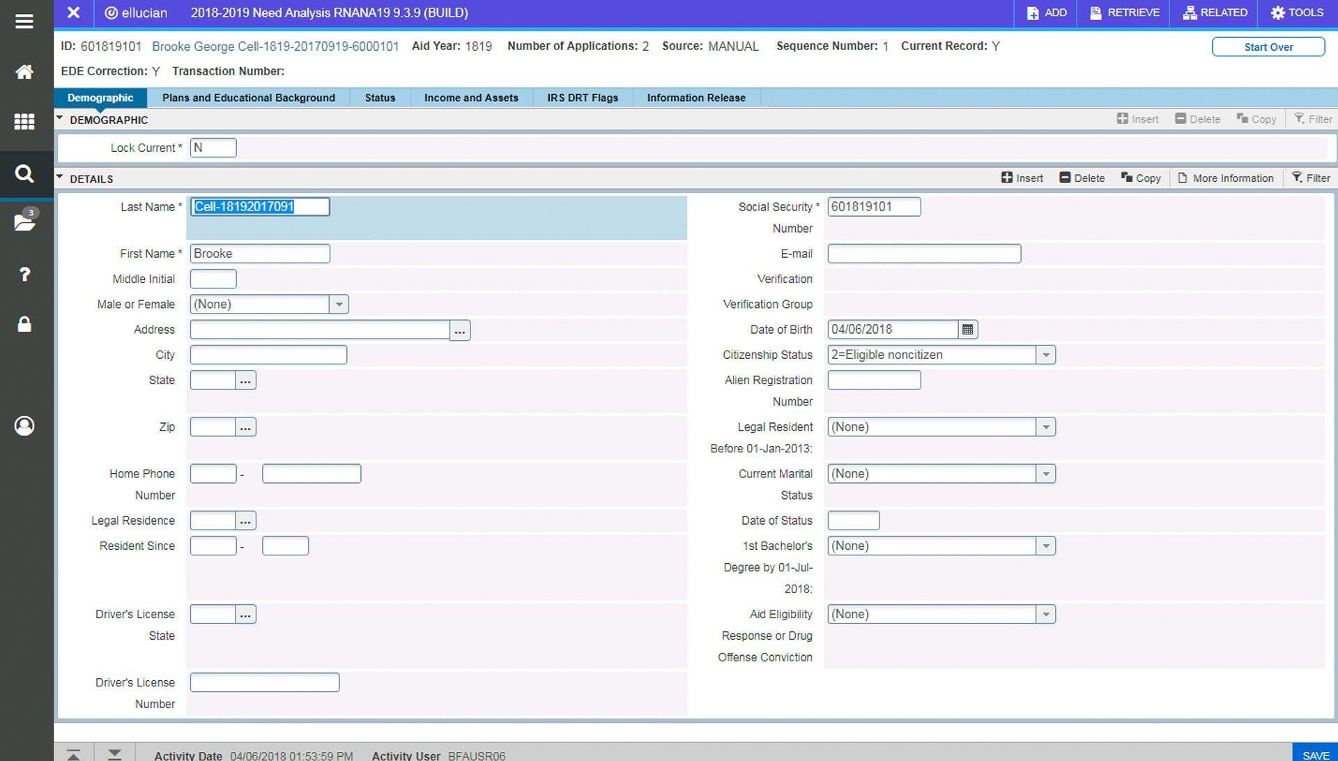 Ellucian Software - Desktop analysis