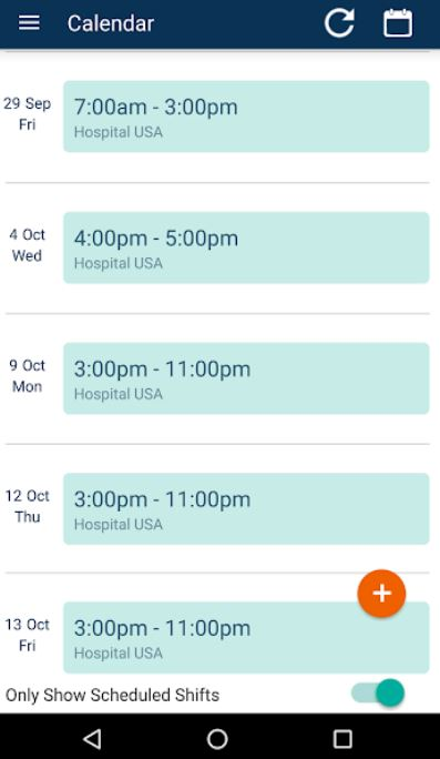 StaffBridge Mobilize calendar