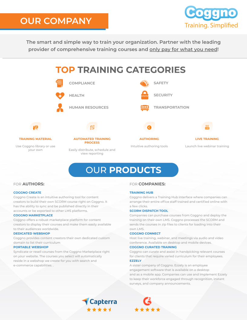 Instantly provide your company with an extensive resource for training... all with no upfront costs.