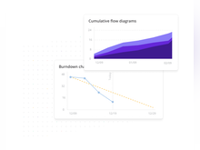 Shortcut Software - Track and visualize project progress with chart-based reporting capabilities including cumulative flow diagrams and burndown charts etc