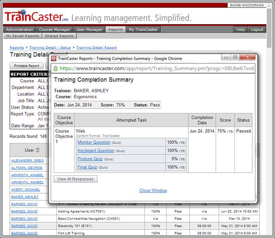 TrainCaster LMS Software - 4