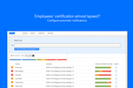 AG5 Skills Management screenshot: Manage Expiring Employee Certifications
