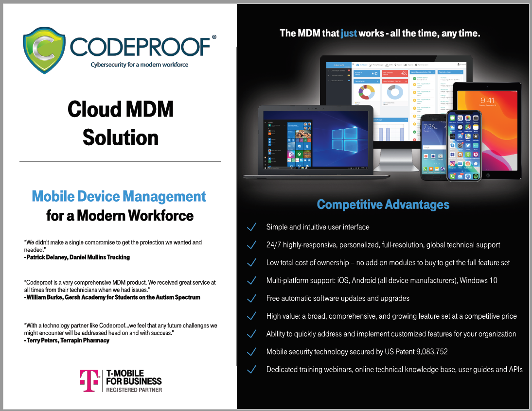 Codeproof flyer