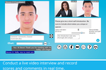 HR Avatar screenshot: Conduct live video interviews and record scores and comments in real time.