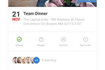 Speakap screenshot: Create events in Speakap including image, date, time and venue - and send to the relevant employees or groups