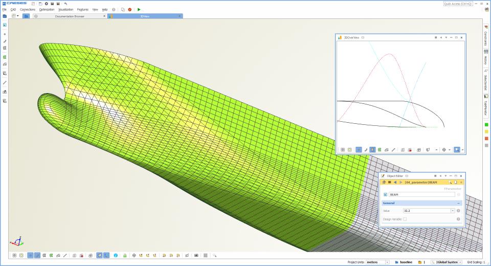 CAESES ship design optimization screenshot