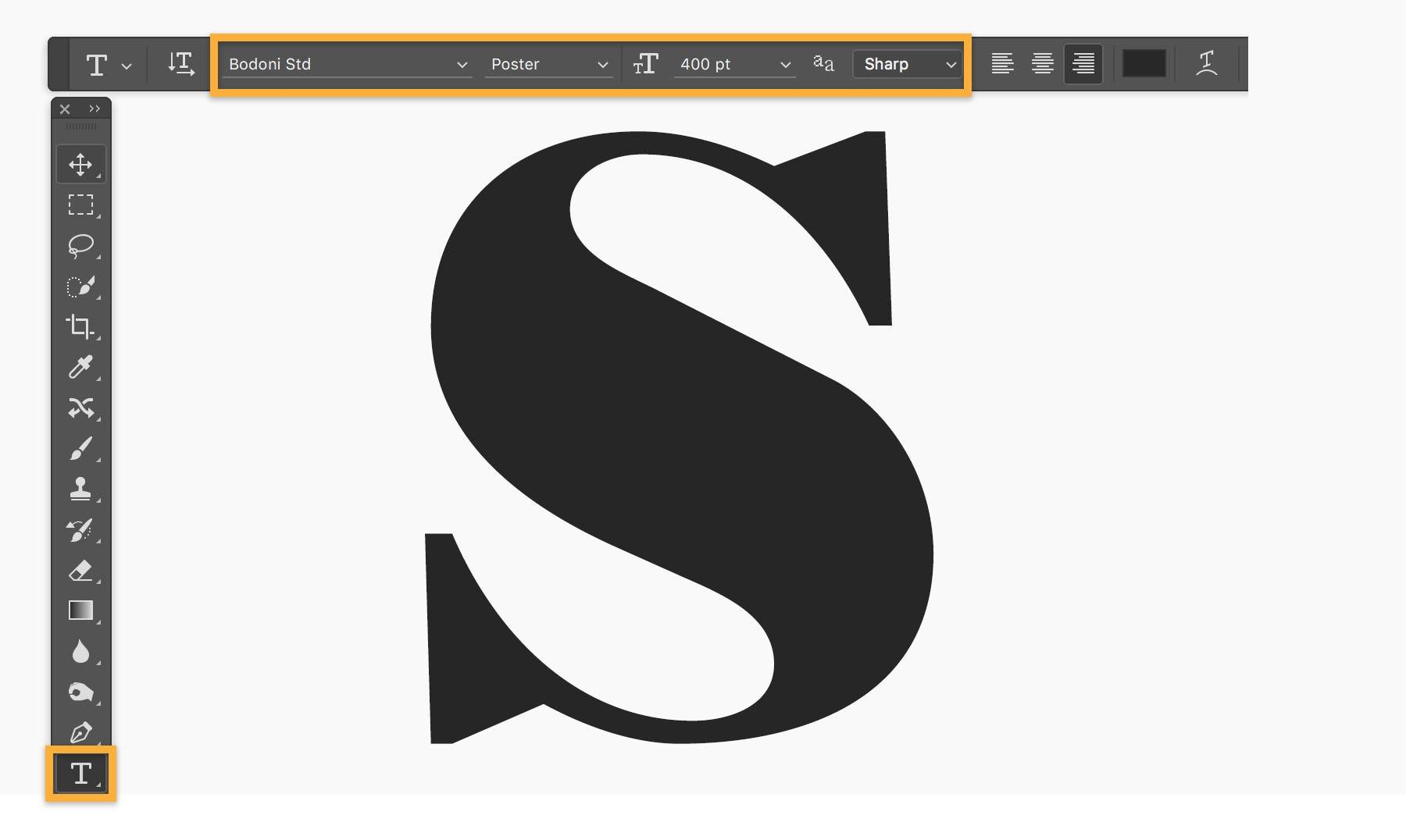 Adobe Photoshop Software - Adobe Photoshop text editing
