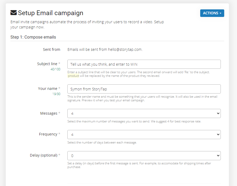 StoryTap Software - StoryTap email campaigns