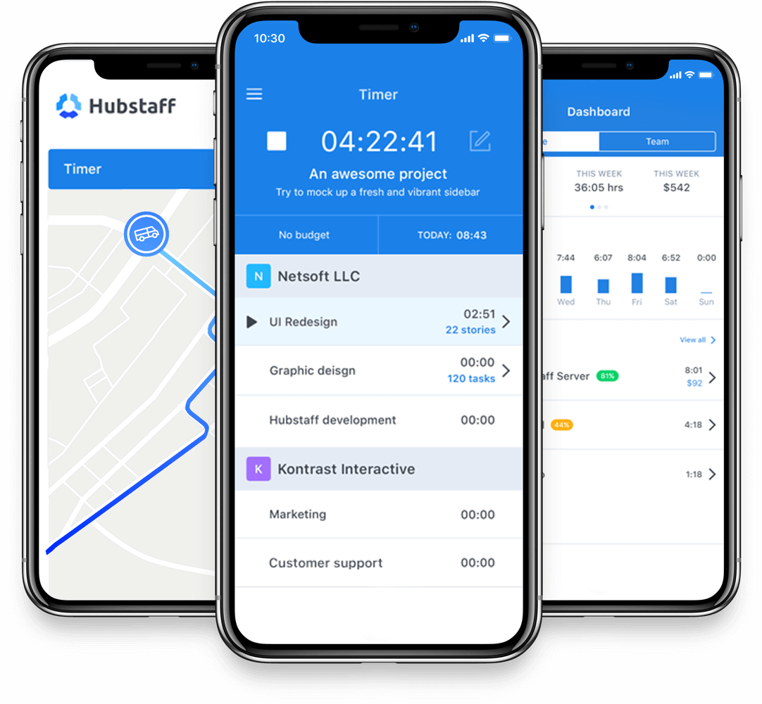 Mobile app for tracking employees