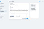 SimpleTexting screenshot: Reach your entire audience at once with bulk messages, or send campaigns to specific lists of subscribers.