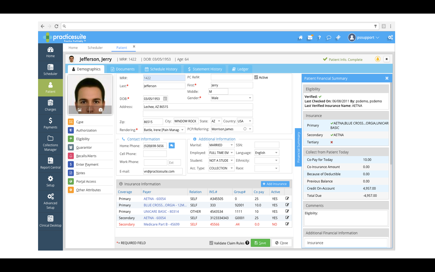 Centralized patient screen