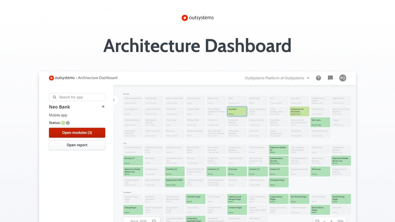 Architecture Dashboard: Monitor and remedy technical debt.