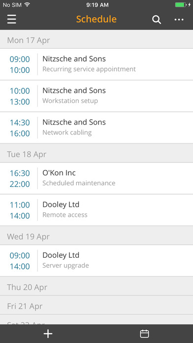 Appointments can be scheduled and synced with other calendars