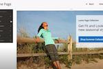 Magento Commerce screenshot: Magento Commerce website builder home page