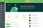 Procurify screenshot: Welcome Dashboard